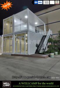 Rápido de dos pisos prefabricados instalar un paquete plano Casa Contenedor para la venta