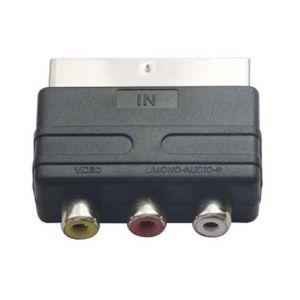 Mini Scart Adapter에 있는 3RCA 잭에 Scart Plug