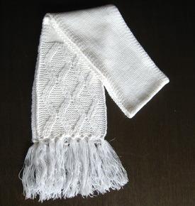 方法によって編まれる冬のスカーフ(TH-K-S-001)
