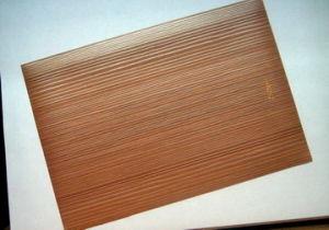 Feuille de grain de bois décoratifs en PVC