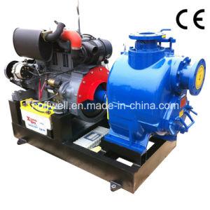 Pompa ad acqua centrifuga autoadescante dei rifiuti di serie di T