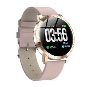 Bracelete inteligente de metal com freqüência cardíaca Podômetro chamada à prova de detecção de desportos de Lembrete Smartwatch CF18 Vigilância inteligente