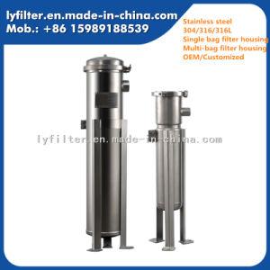 Múltiple de acero inoxidable de alta calidad y una sola caja del filtro de la bolsa de líquido Ss
