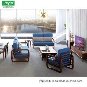 La ceniza blanca importada del bastidor de madera maciza sofás tapizados en tela de 1+2+3