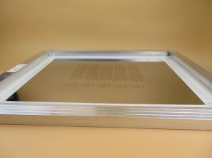 Galería de láser construido 0,12mm de acero inoxidable con fama de lámina de aluminio