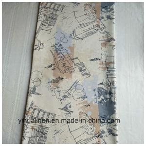 Tela impressa viscosa de linho para o pano da arte, pano de tabela, lonas esticadas