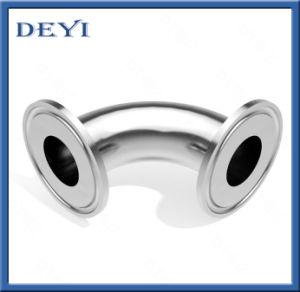 Gomito premuto curvatura sanitaria dell'accoppiamento dell'accessorio per tubi dell'acciaio inossidabile con lo standard di SMS/DIN (DY-015)