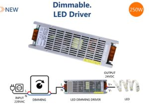 250W 24V TIRA DE LEDS CONTROLADOR LED regulable