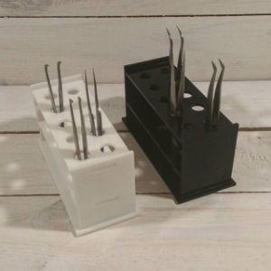 La extensión de pestañas de acrílico blanco caja de almacenamiento