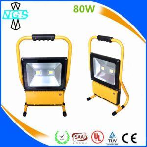 Аккумулятор 50W RGB Светодиодный прожектор заливающего света, аварийного освещения на улице прожекторов на крыше