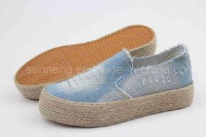 Jean de la mujer Zapatos de lona con borla