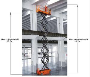 Elevador de tijera eléctrica aérea autopropulsada plataforma de trabajo del motor de accionamiento (CC)