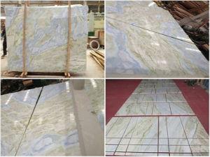 青いヒスイの大理石のタイルのオニックス大理石の床タイル