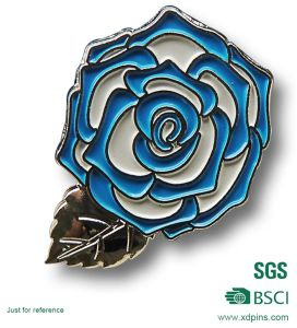 Customized Loja Metal Pin de lapela de flores a desabrochar Badge (XDBG-265)