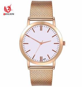 Casual de marca de reloj de cuarzo Don Horas de la mujer de malla de oro y plata relojes de mujer vestidos de acero inoxidable reloj Feminino Relogio #V257