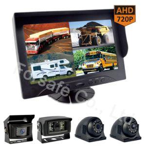 9  Systeem van de Camera van de Auto van de Monitor van het Scherm van de Mening van de Vierling Rearview met Camera Ahd