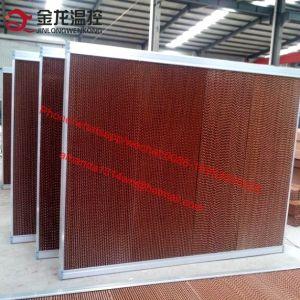 Refroidisseur d'air de refroidissement utilisé Honeycomb Pad / refroidissement Evaportaive Pad pour effet de serre de la volaille