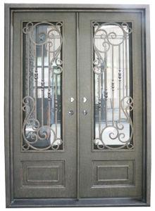 Hermoso Acabado Exterior personalizado de la puerta de hierro forjado.