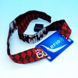 イベントのための標準的な1K祝祭の布のリスト・ストラップが反の証拠に札をつける高い安全性RFID NFC MIFAREはバックルを除去する