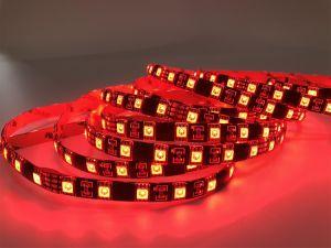 SMD5050 RGB LED tira flexible de luz con PCB negro