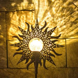 Impermeable al aire libre juego de la pared colgado de fijación de la tierra de jardín de césped de LED de energía solar para patio de luz vía Porche de entrada decoración paisaje