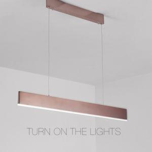 Sala de Conferência Studio Office sala de jantar retangular de LED de iluminação Pendente