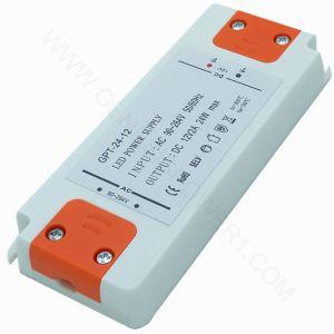 24W 12V 2A Classic Shell Plassic LED Controlador de potencia CC SMP, transformador de salida única de AC DC Adaptador SMPS para TIRA DE LEDS o la luz