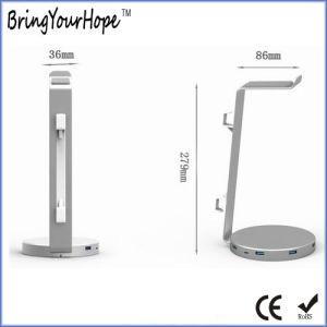 Diseño especial Hub USB 3.0 con soporte para auriculares (XH-HUB-012)