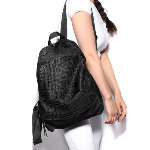 Orifício de líquido negro de Lazer Rua Travel Mochila Fashion Andar Ombro dupla mochila homens a luz do saco de fitness de desporto
