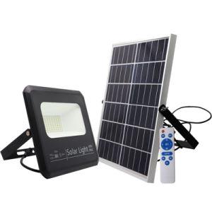 SMDの機密保護のDimmableのバッテリー・バックアップの緊急時ランプIP65の屋外の照明太陽動力を与えられたLED洪水ライト太陽庭の洪水ライト
