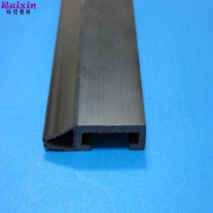 PVC duro di plastica nero e profilo morbido dell'espulsione di Co del materiale