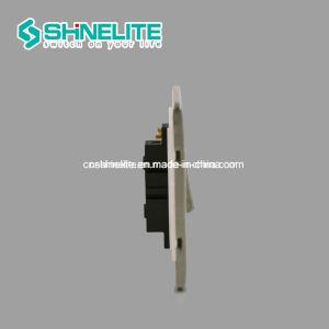 La norme britannique interrupteur électrique en chrome satiné Ce/Certificat CB