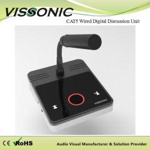 Vissonicの会議システムCat5によってのワイヤーで縛られるデジタル基本的な議論の議長か代表者の単位