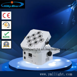 IP33 Batería Recargable Inalámbrico DMX de aluminio 9pcs Uplighting LED 18W