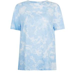 여자 동점 염료 디자인 남자 친구 작풍 t-셔츠