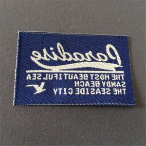 Nombre de la etiqueta personalizada de tejido Jacquard etiquetas tejidas