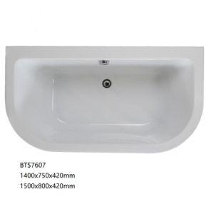 Hot vender rectángulo bañera acrílica incorporada (BTS7607)