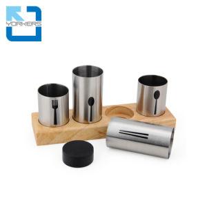 Cuberterías de acero inoxidable resistente caja cuchillos cuchara horquilla palillos utensilios tenedor