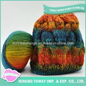 Personalizado anillo de lujo Spun de nylon acrílico a mano el hilado de lana