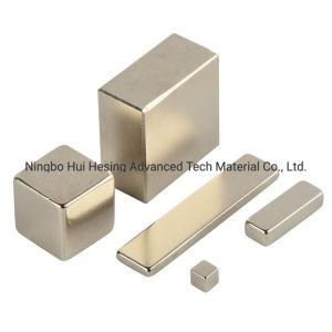 De aangepaste Magneet van NdFeB van het Neodymium van de Grootte Vierkante Sterke met Vernikkeld