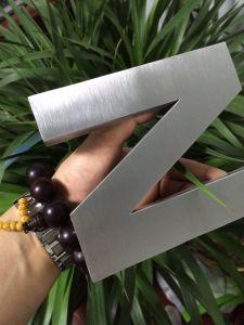 Brieven van het Metaal van de Borstel van de Brief van het roestvrij staal 3D Decoratieve