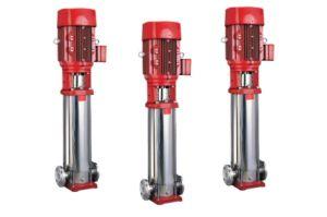 縦の多段式固定タイプ消火ポンプ