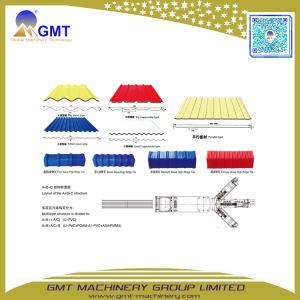Single+multi-couches de plastique PVC+PP+Pet panneau de toit de tuiles de feuille de carton ondulé extrudeuse