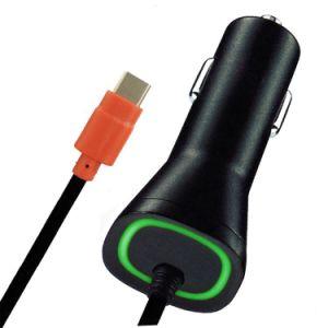 Pulse el botón Flash LED Luz Roja QC2.0 Micro Cargador de coche