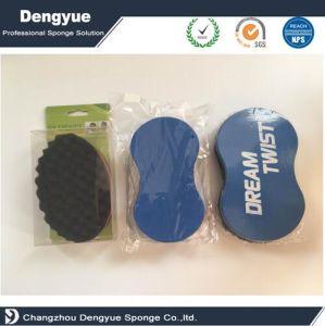 Lado duplo toque de cabelo enrolado esponja escova esponja de torção de cabelo segura para venda