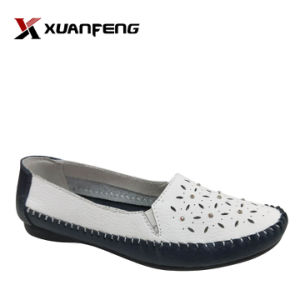 Новых популярных женских Удобная плоская туфли обувь