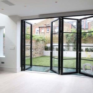 複雑なデザイン現代様式のアルミニウム折れ戸