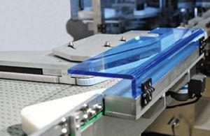 가득 차있는 자동적인 회전하는 스티커 병 레테르를 붙이는 기계