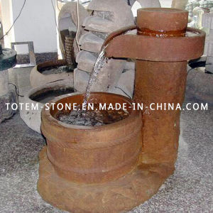 Fuente de piedra de granito y agua para jardín al aire libre, jardín, patio