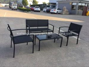 El acero de 4 PCS Conjunto de mobiliario moderno en la tabla+sillas